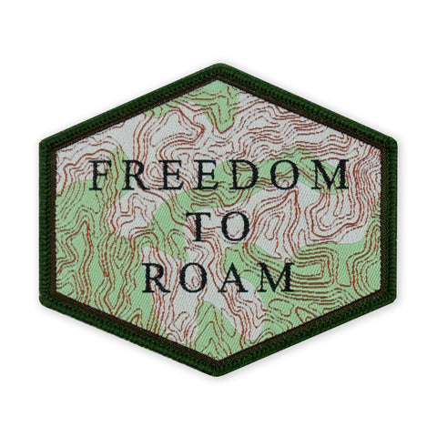 PDW Topographic Freedom To Roam LTD ED Morale Patch - Tactical Outfitters