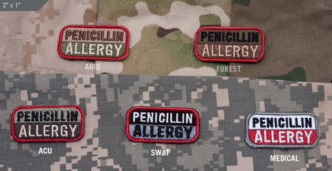 Penicillin Allergy Patch - Tactical Outfitters