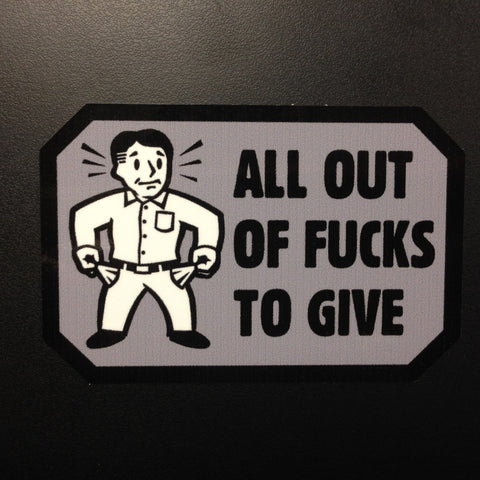 ALL OUT STICKER - Tactical Outfitters