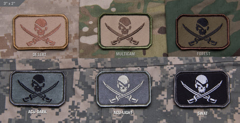 Pirate Skull Flag Morale Patch - Tactical Outfitters