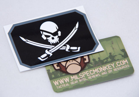 Pirate Skull Flag Decal - Tactical Outfitters