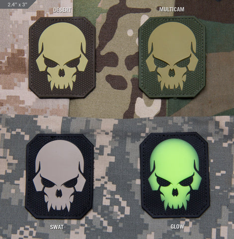 PIRATE SKULL LARGE PVC MORALE PATCH - Tactical Outfitters