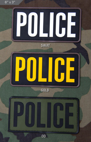 POLICE 6x3 PVC Patch - Tactical Outfitters
