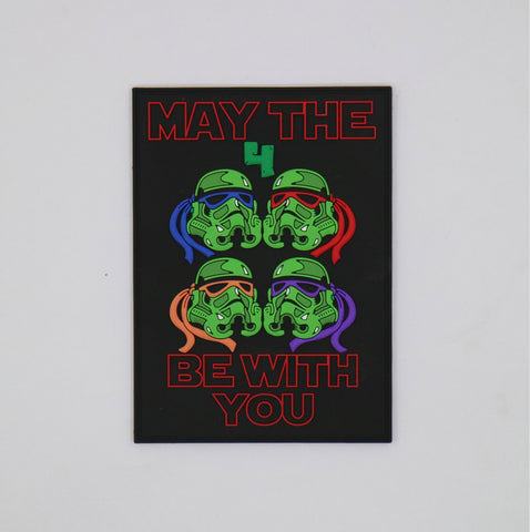 MAY THE 4 BE WITH YOU LIMITED EDITION 3D PVC MORALE PATCH - Tactical Outfitters