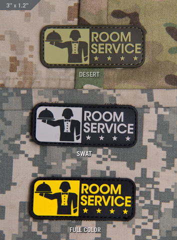 ROOM SERVICE PVC MORALE PATCH - Tactical Outfitters