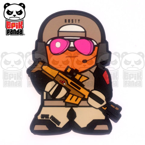 RUSTY (BATTLEFIELD PANDA) PVC MORALE PATCH - Tactical Outfitters
