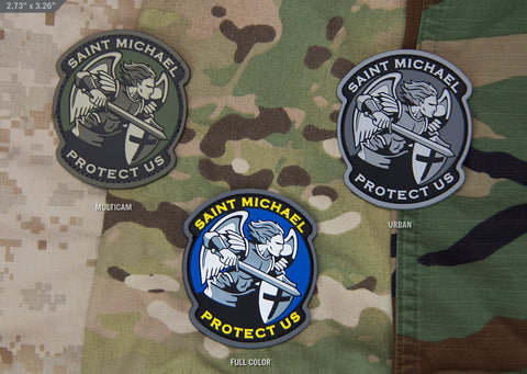 SAINT MICHAEL MODERN PVC MORALE PATCH - Tactical Outfitters