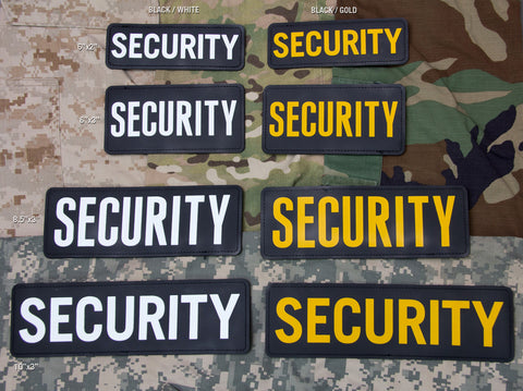 SECURITY PVC MORALE PATCH - Tactical Outfitters