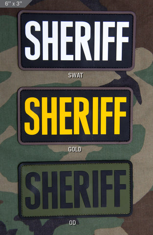 SHERIFF 6x3 PVC Patch - Tactical Outfitters