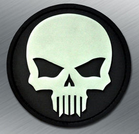 SKULL GITD PVC MORALE PATCH - Tactical Outfitters
