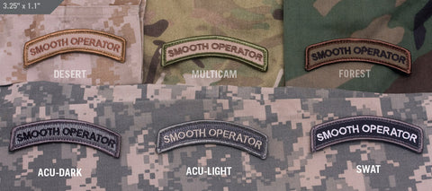 SMOOTH OPERATOR MORALE PATCH TAB - Tactical Outfitters