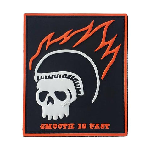 SMOOTH IS FAST (SKULL) PVC MORALE PATCH - Tactical Outfitters
