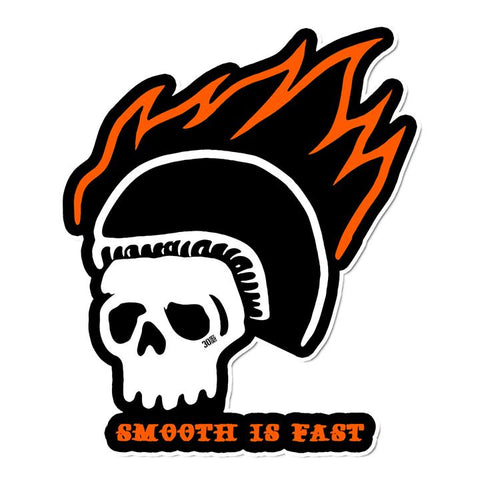 Smooth Is Fast: Skull Sticker - Tactical Outfitters