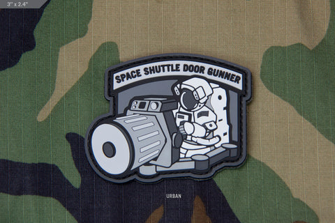 SPACE SHUTTLE DOORGUNNER PVC MORALE PATCH - Tactical Outfitters