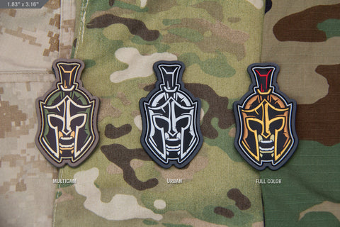 SPARTAN HEAD MORALE PATCH - Tactical Outfitters