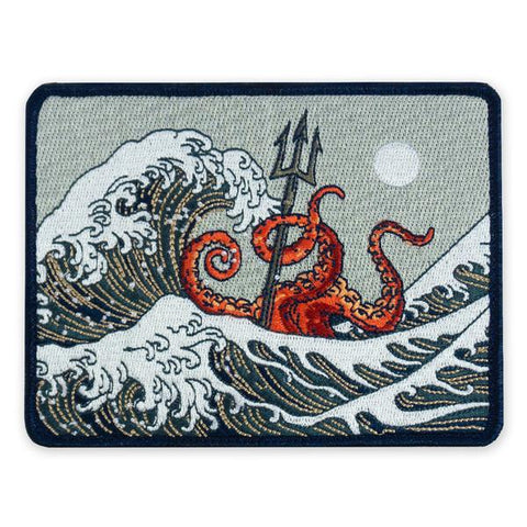 PDW SPD Great Wave Kraken Morale Patch - Tactical Outfitters