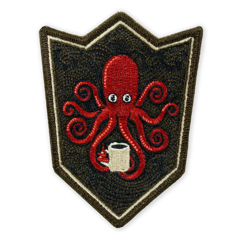 PDW SPD Kraken Black Coffee Crest LTD ED Morale Patch - Tactical Outfitters