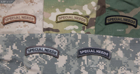 SPECIAL NEEDS MORALE PATCH TAB - Tactical Outfitters