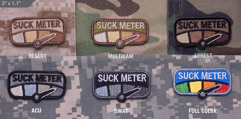 SUCK METER MORALE PATCH - Tactical Outfitters