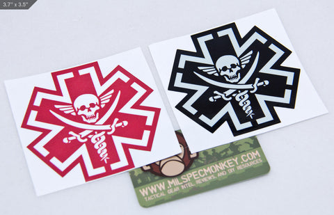TACMED PIRATE STICKER - Tactical Outfitters