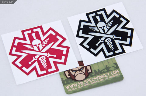 TACMED SPARTAN STICKER - Tactical Outfitters