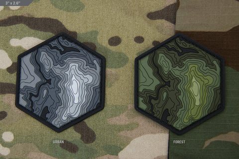 TOPO MAP 1 PVC MORALE PATCH - Tactical Outfitters
