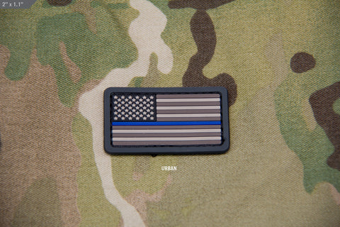 THIN BLUE LINE US FLAG MINI PVC PATCH - Tactical Outfitters