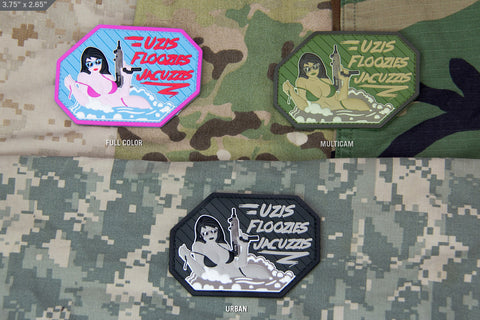 UZIS FLOOZIES JACUZZIS PVC MORALE PATCH - Tactical Outfitters