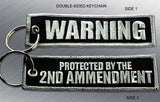 WARNING 2nd AMENDMENT EMBROIDERED KEYCHAIN TAG - Tactical Outfitters