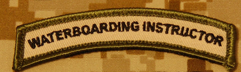 Waterboarding Instructor Tab Patch - Tactical Outfitters