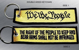 WE THE PEOPLE EMBROIDERED KEYCHAIN TAG - Tactical Outfitters