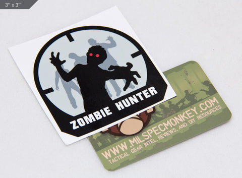 ZOMBIE HUNTER STICKER - Tactical Outfitters