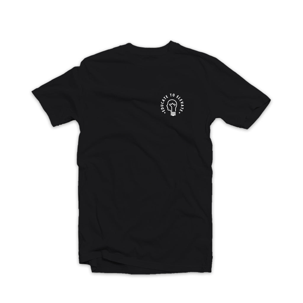Educate to Elevate Tee Black