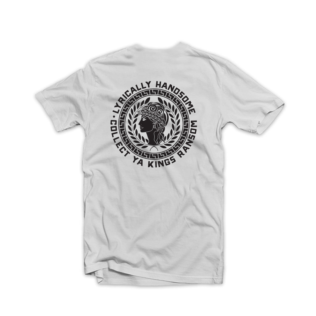 Lyrically Handsome Tee Black on White