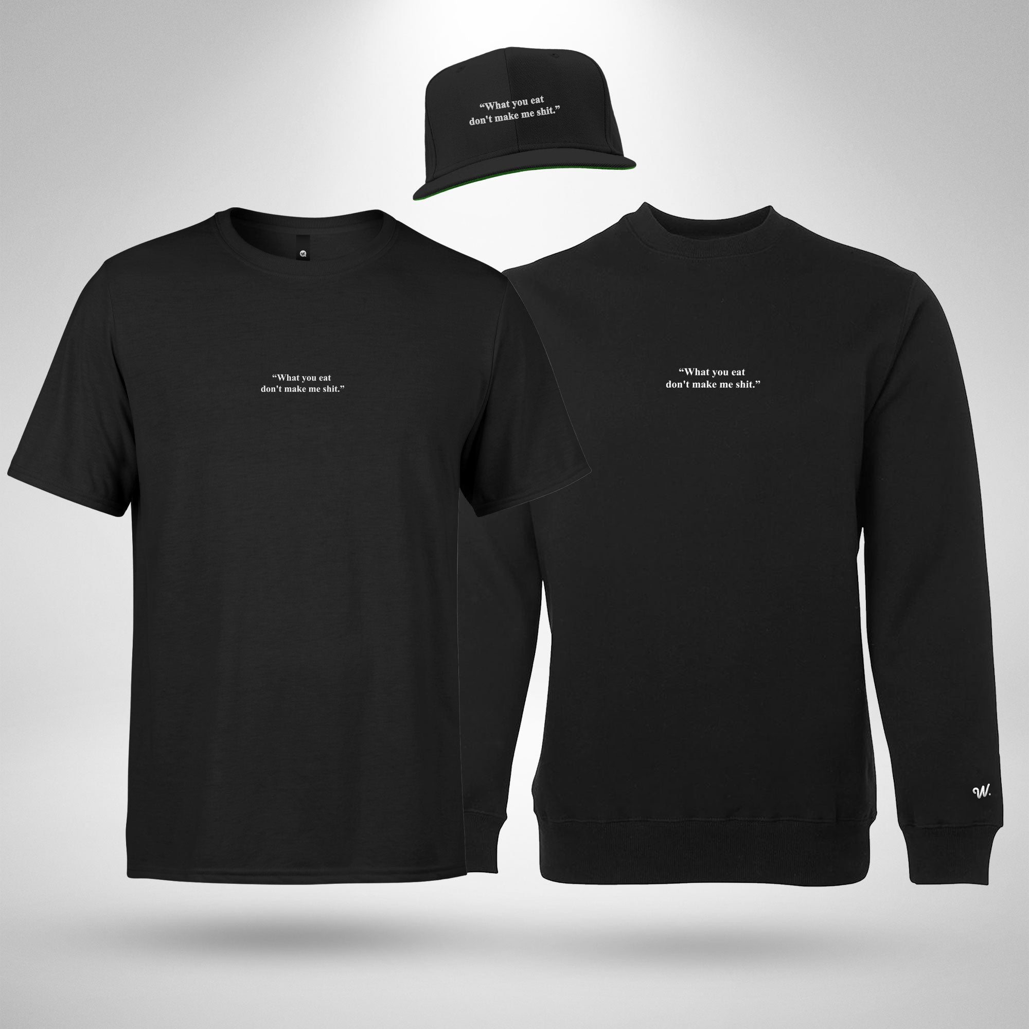 Food Crewneck Sweatshirt, Tee & Cap Bundle