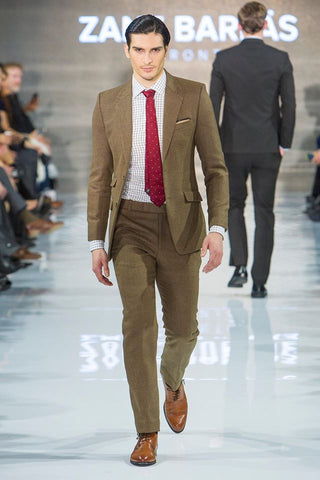 Brown Cashmere wool suit