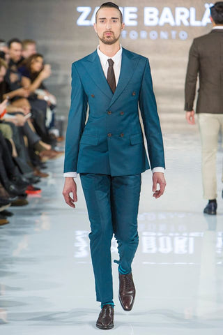 Teal Green Double Breast Suit