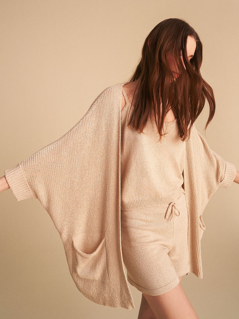 Knit Batwing Sleeve Cardigan
