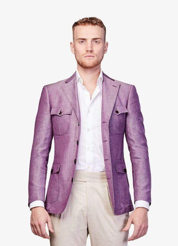 Zane Barläs Jackets Purple Linen Jacket Custom Suits for Men and Women