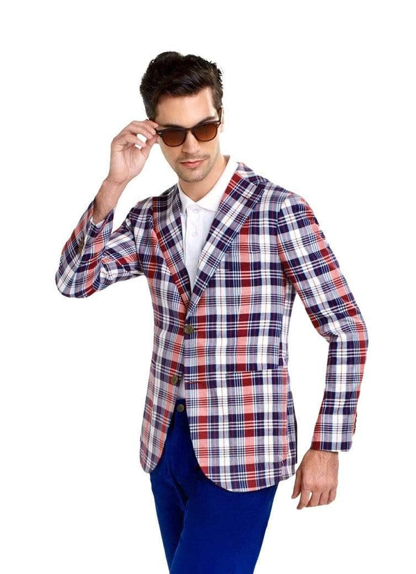 Saint Tropez Red Check
