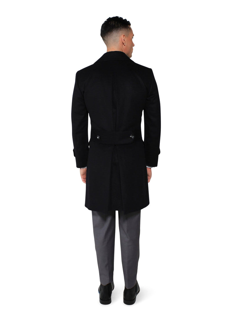 Black Camel Overcoat - Rental