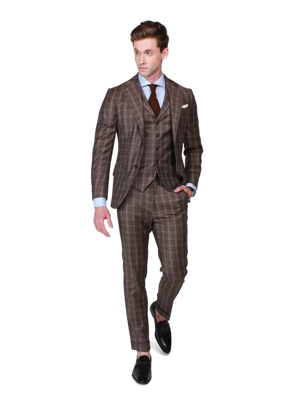 Brown Check Suit - Rental