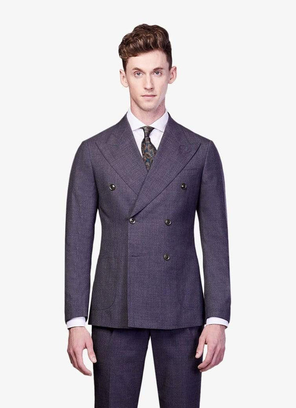 Grey Double Breasted Suit - Rental