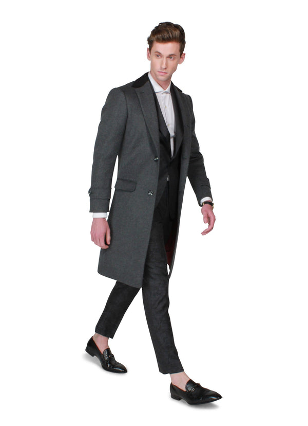 Grey Overcoat - Rental - Rental