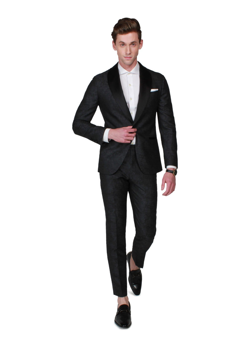 Grey Statement Tuxedo - Rental