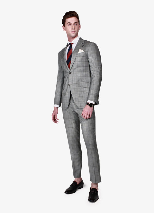 Oxford Grey Check Suit - Rental