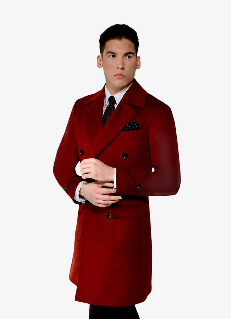 Red Cashmere Overcoat - GQ Exclusive