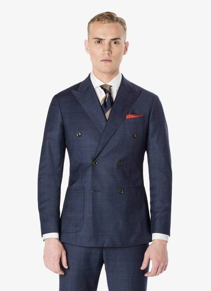 Manhattan Navy Windowpane