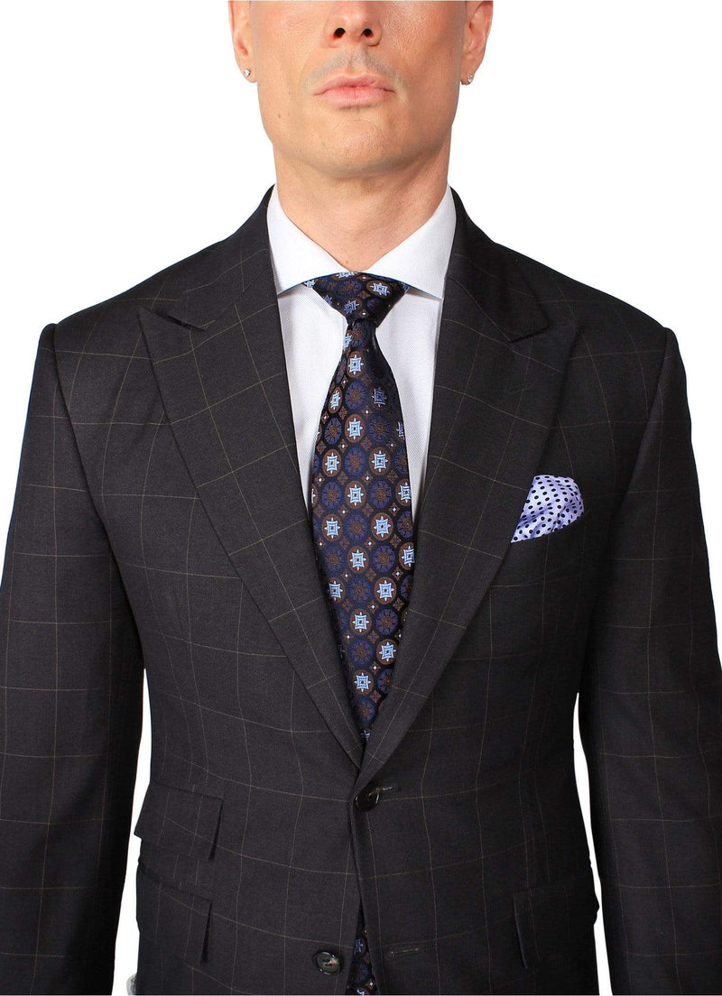 Brown Monaco Windowpane