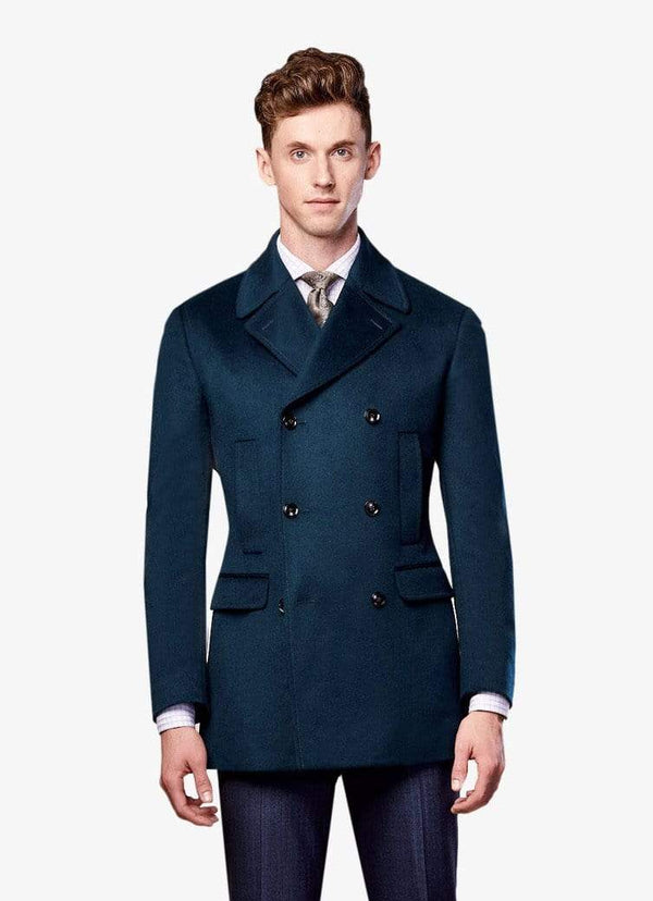 Green Cashmere Peacoat